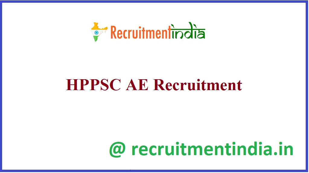 HPPSC AE Recruitment