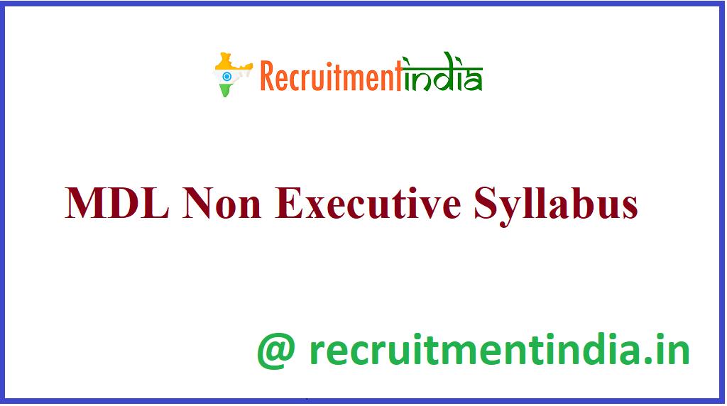 MDL Non-Executive Syllabus