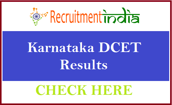 Karnataka DCET Results