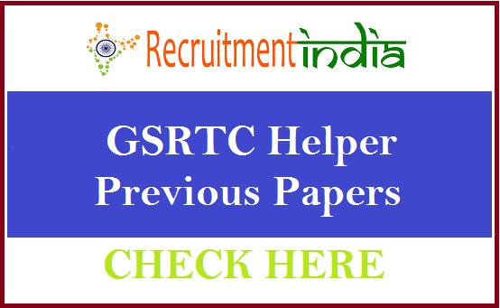 GSRTC Helper Previous Papers