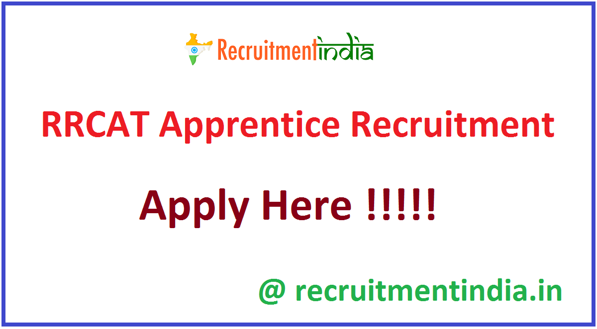 RRCAT Apprentice Recruitment