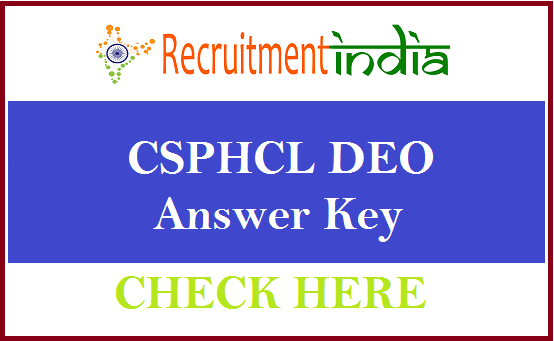 CSPHCL DEO Answer Key