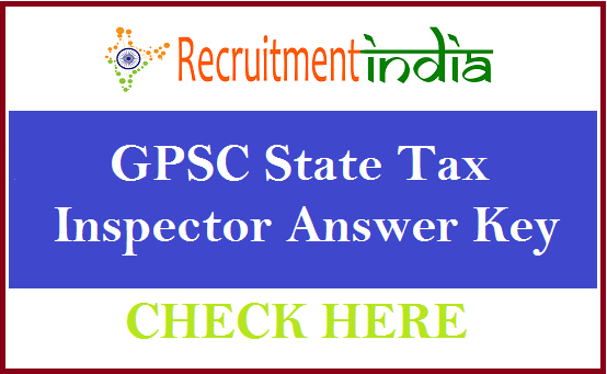 GPSC State Tax Inspector Answer Key