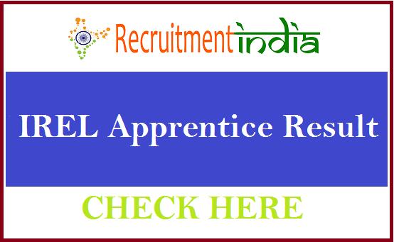 IREL Apprentice Result