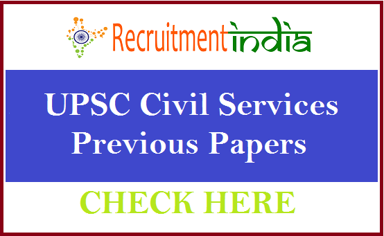UPSC Civil Services Previous Papers