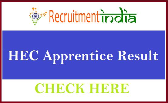 HEC Apprentice Result