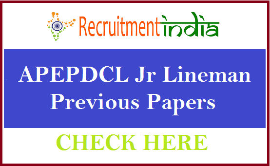 APEPDCL Junior Lineman Previous Papers
