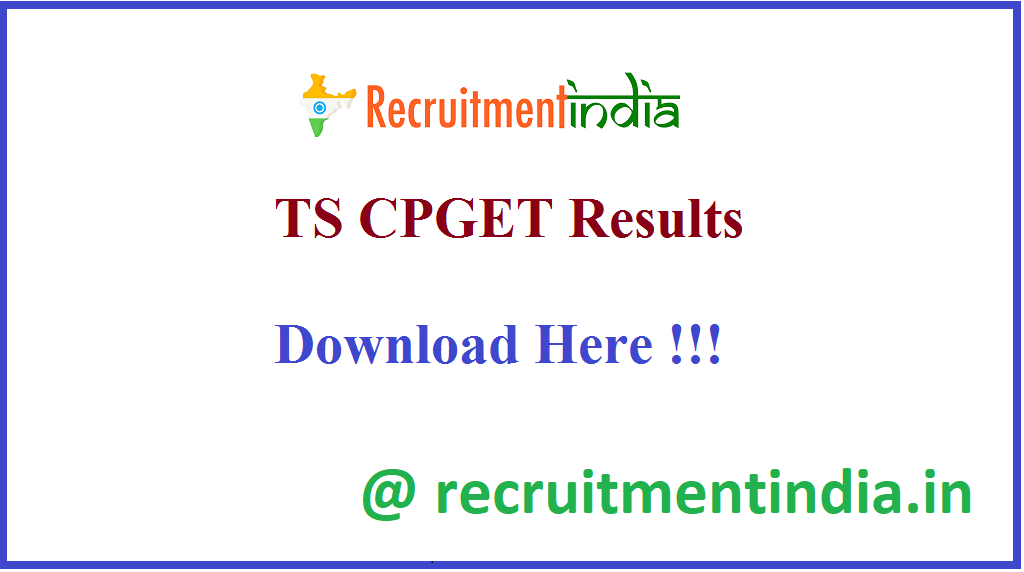 TS CPGET Results