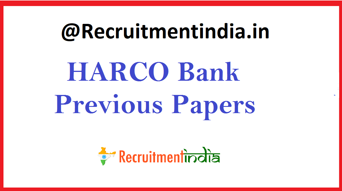 HARCO Bank Previous Papers