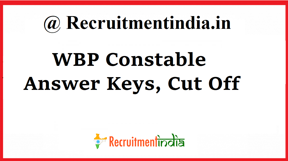 WB Police Constable Answer Key