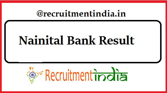 Nainital Bank Result