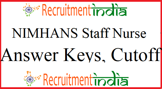 NIMHANS Staff Nurse Answer Key