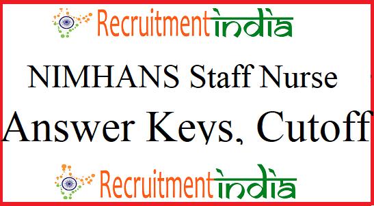 NIMHANS Staff Nurse Answer Key