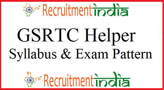 GSRTC Helper Syllabus