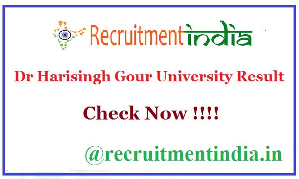 Dr Harisingh Gour University Result