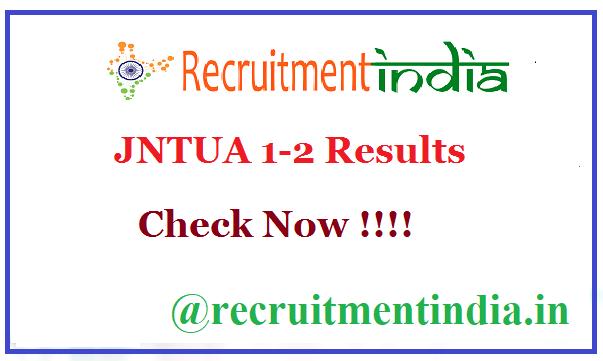 JNTUA 1-2 Results