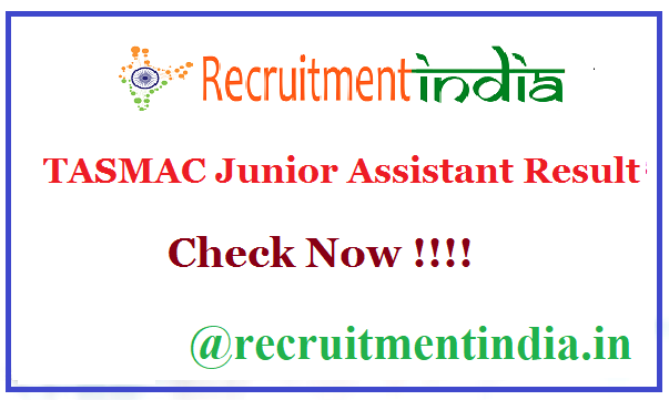 TASMAC Junior Assistant Result