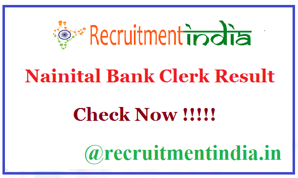 Nainital Bank Clerk Result