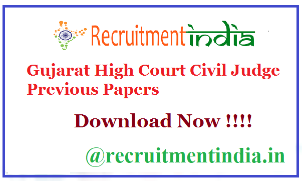 Gujarat High Court Civil Judge Previous Papers