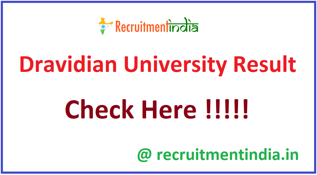 Dravidian University Result
