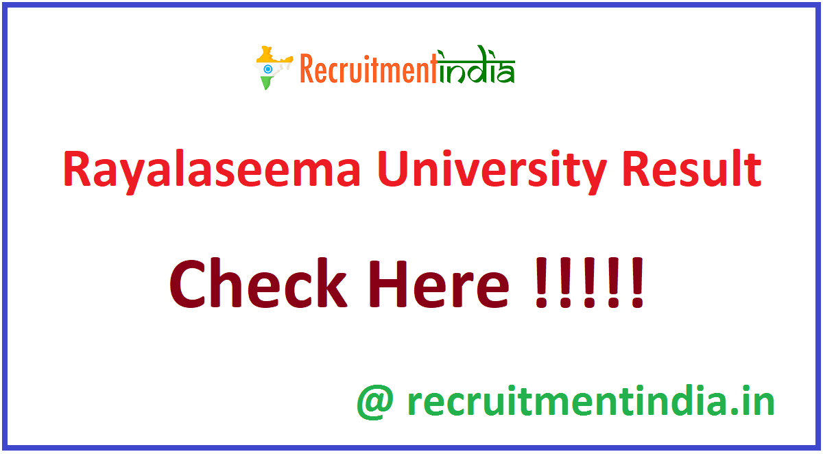 Rayalaseema University Result