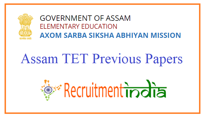Assam TET Previous Papers