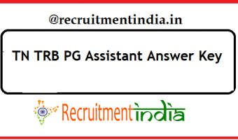 TN TRB PG Assistant Answer Key