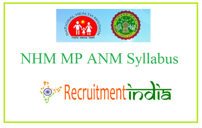 NHM MP ANM Syllabus