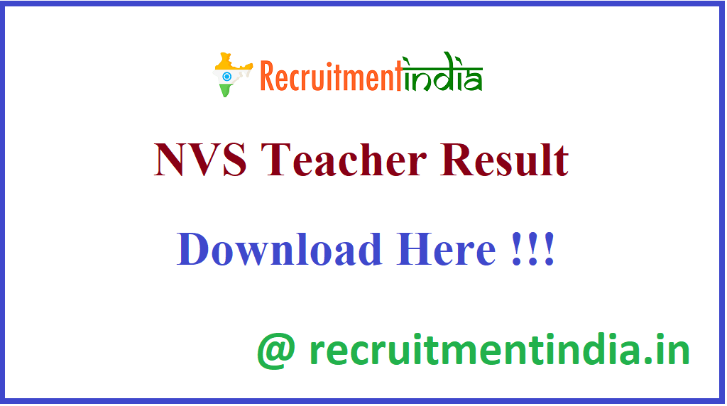NVS Teacher Result