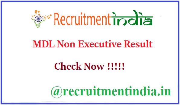 MDL Non Executive Result