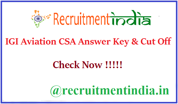 IGI Aviation CSA Answer Key