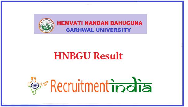 HNBGU Result