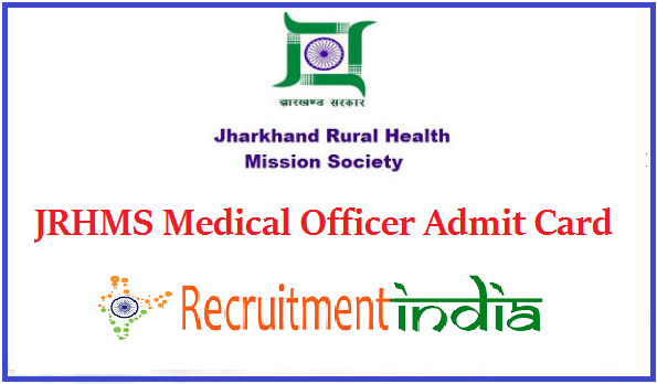 JRHMS Medical Officer Admit Card