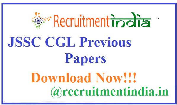 JSSC CGL Previous Papers