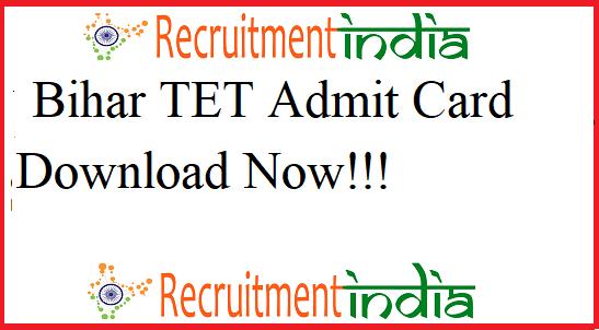Bihar TET Admit Card 2019