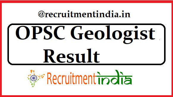 OPSC Geologist Result