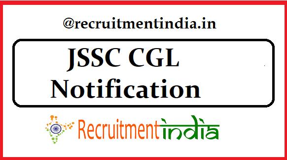 JSSC CGL Notification