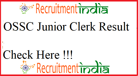 OSSC Junior Clerk Result 2019
