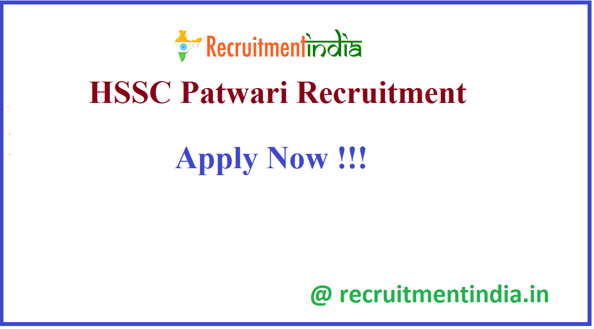HSSC Patwari Recruitment