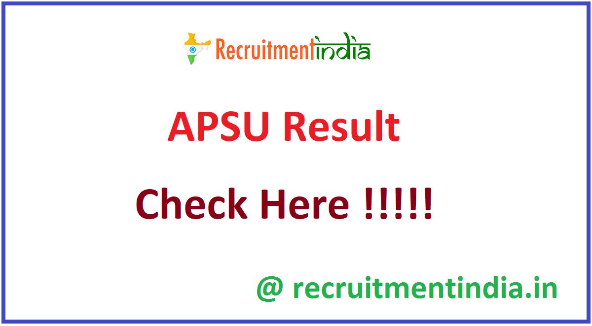 APSU Result