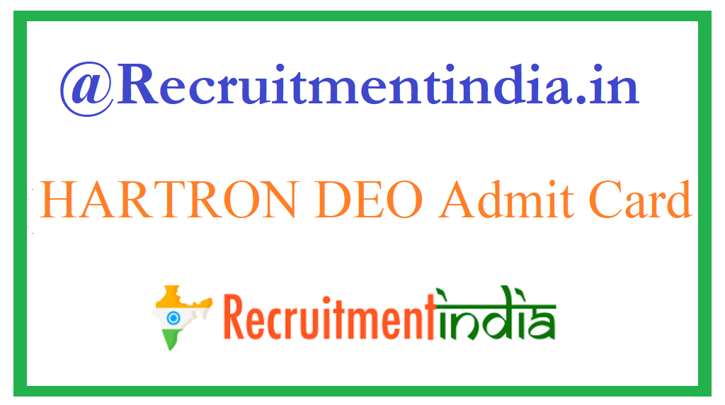 HARTRON DEO Admit Card