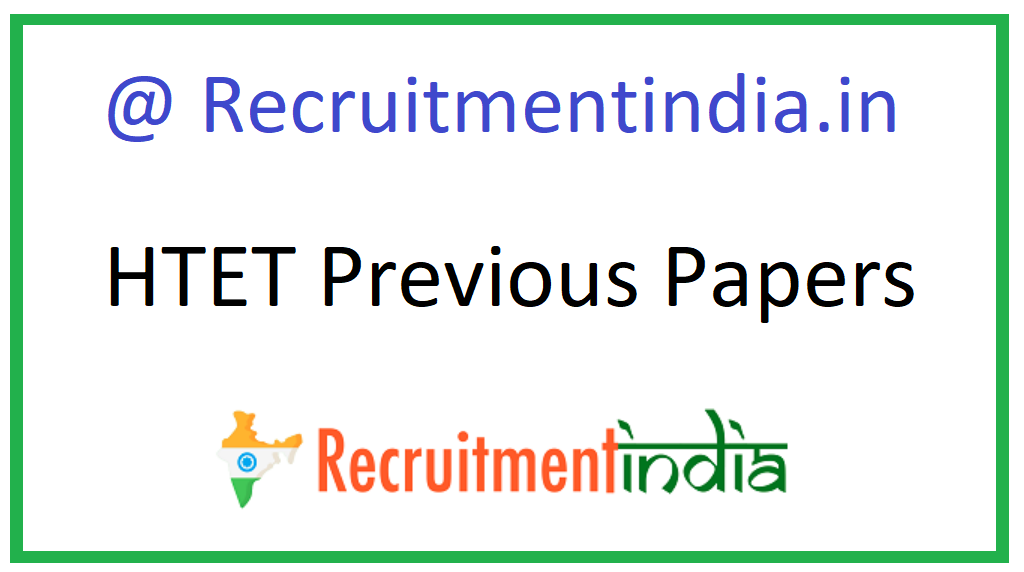 HTET Previous Papers