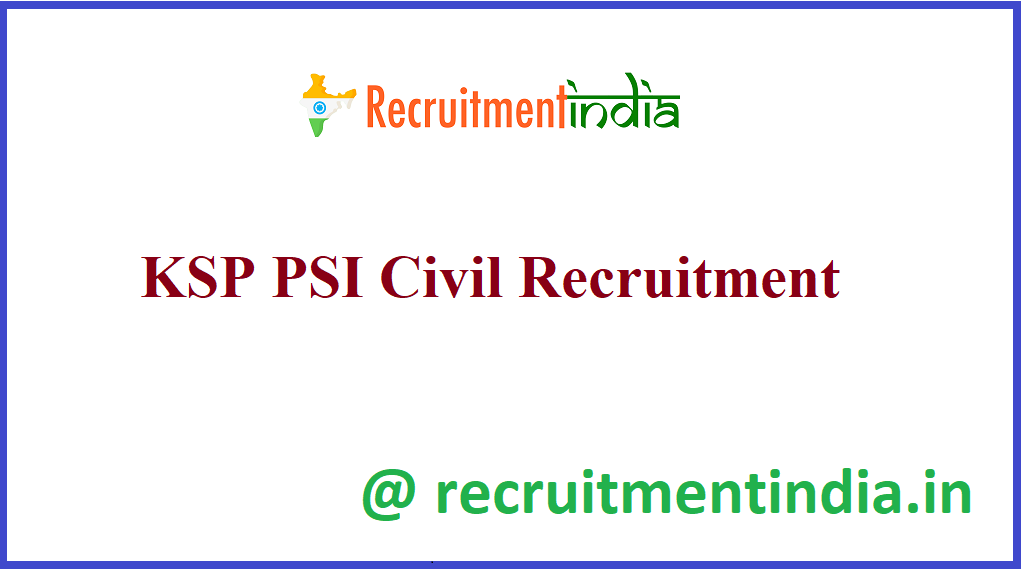 KSP PSI Civil Recruitment