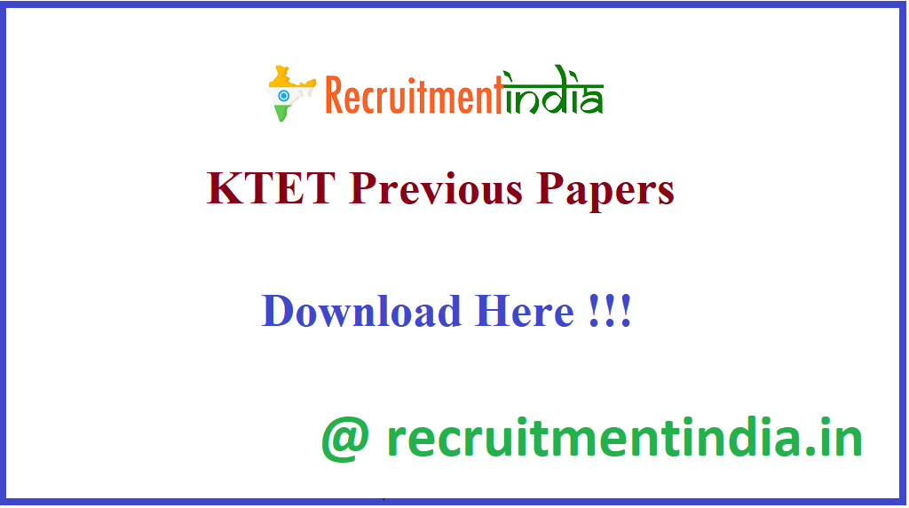 KTET Previous Papers