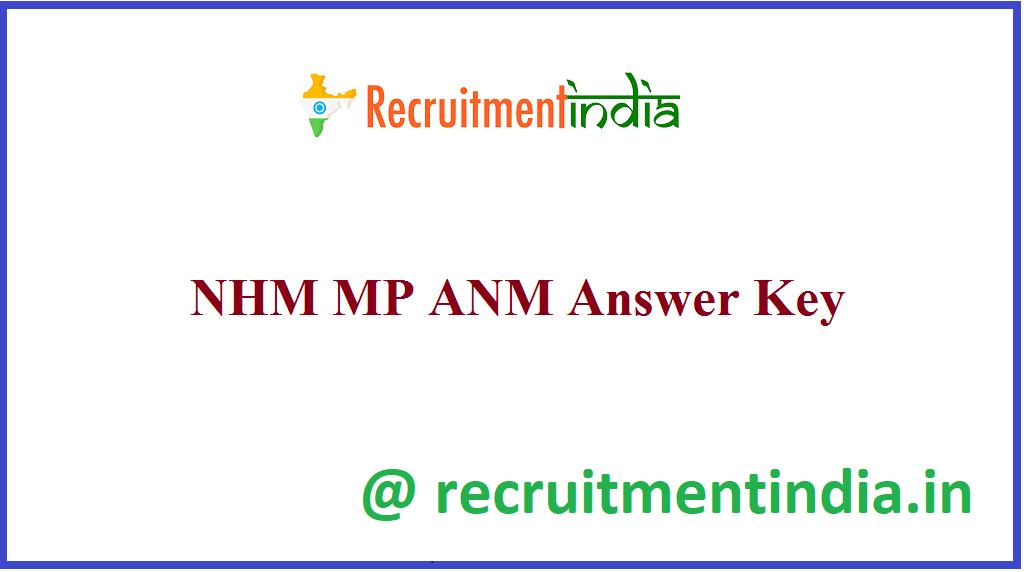 NHM MP ANM Answer Key