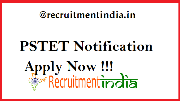 PSTET Notification 2019
