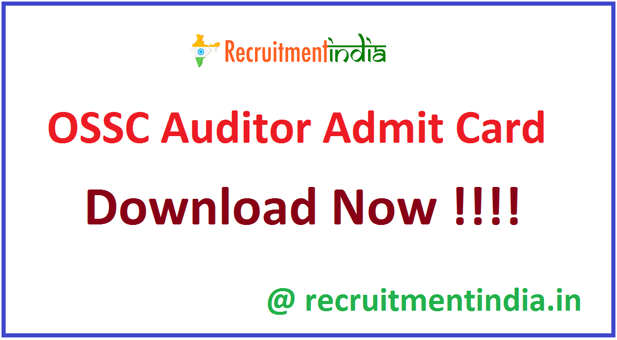 OSSC Auditor Admit Card