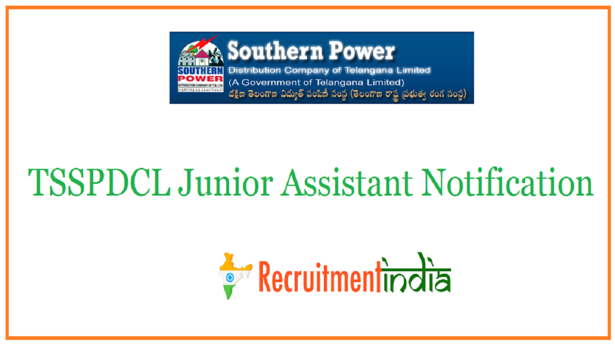 TSSPDCL Junior Assistant Notification