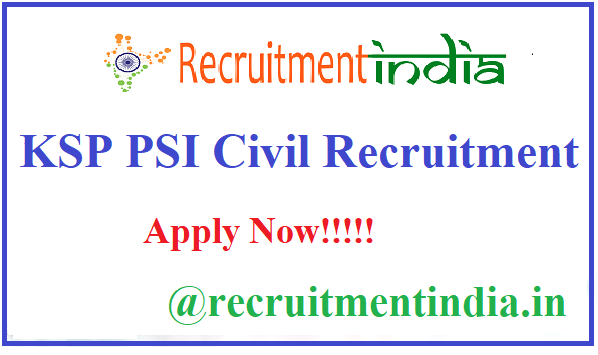 KSP PSI Civil Recruitment