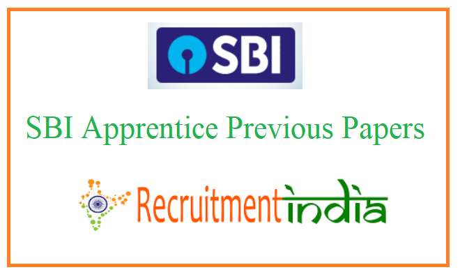 SBI Apprentice Previous Papers